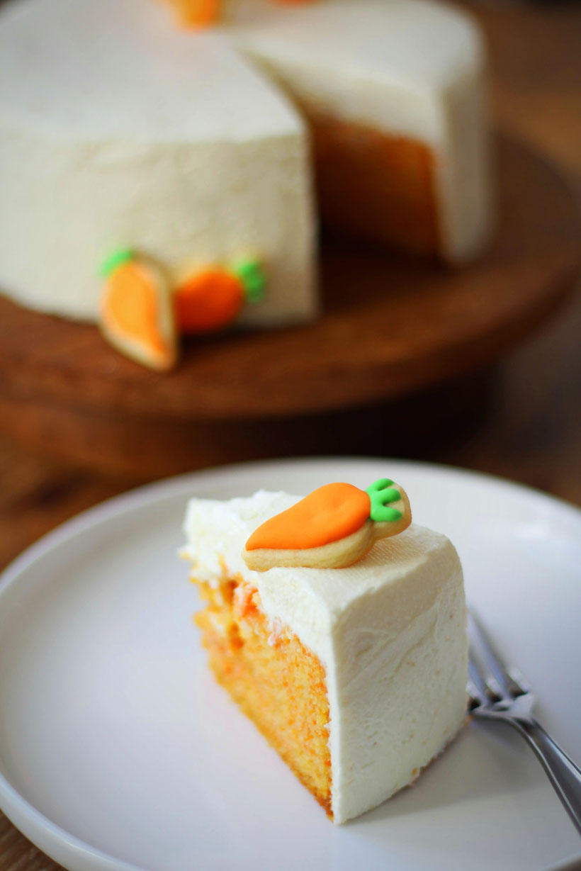 Einfach! Küche! Karottenkuchen mit Zitronenfrischkäse Topping
