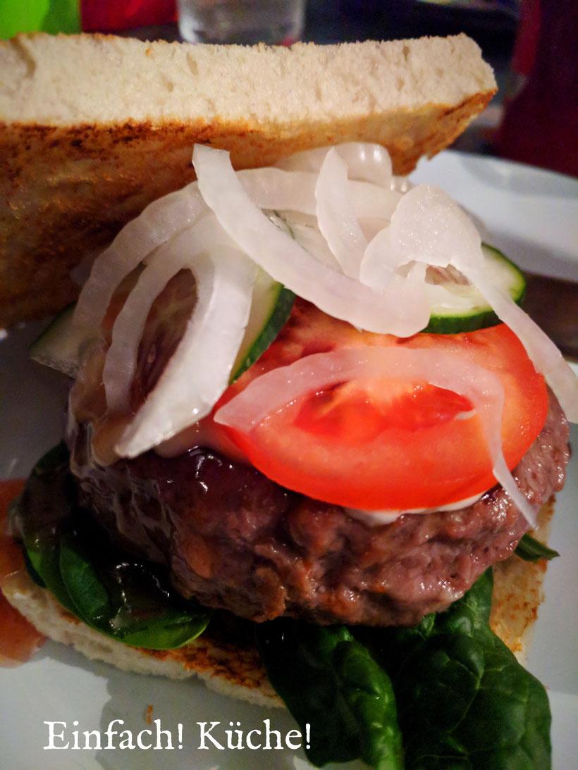 Einfach! Küche! Unser Tag in Bildern: Abendessen Burger