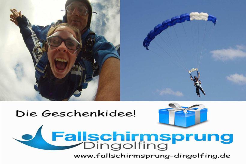 Fallschirmspringen mit Edi Engl am Flugplatz in Niederbayern Dingolfing nähe Regensburg und München