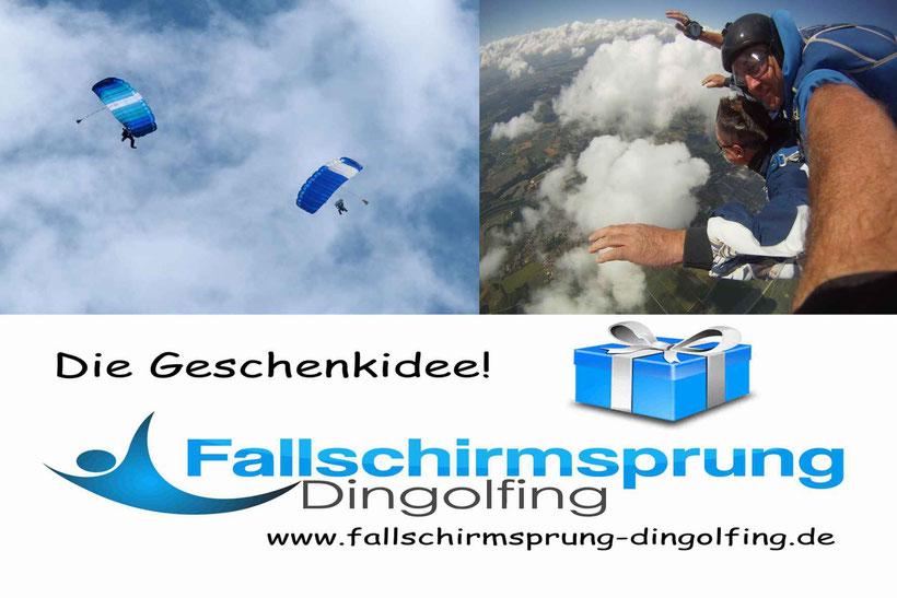 Die Geschenkidee! Ein Fallschirmsprung über Dingolfing Niederbayern