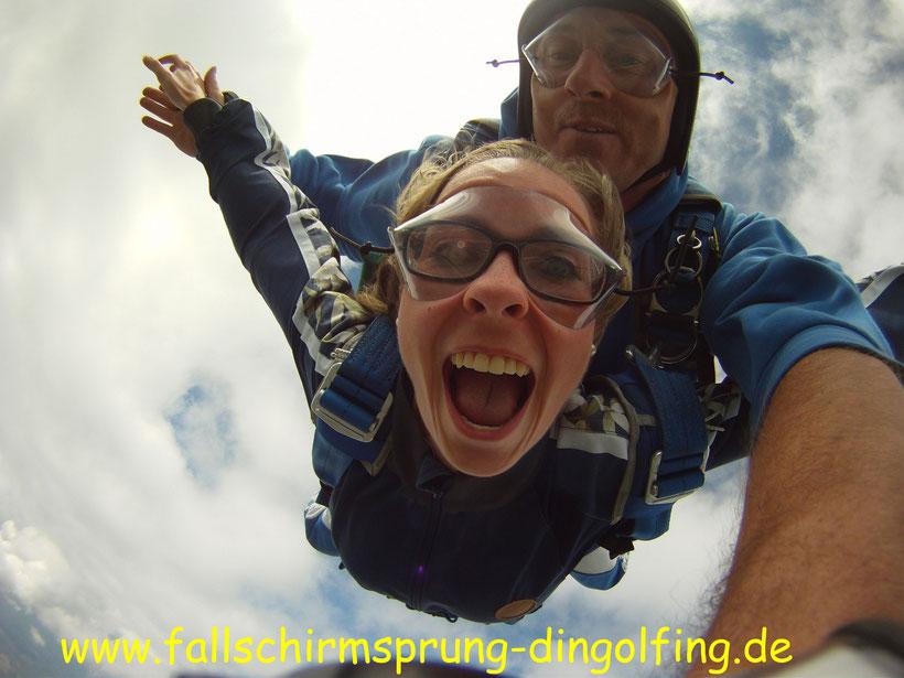 Tandemsprung Fallschirmsprung Bayern