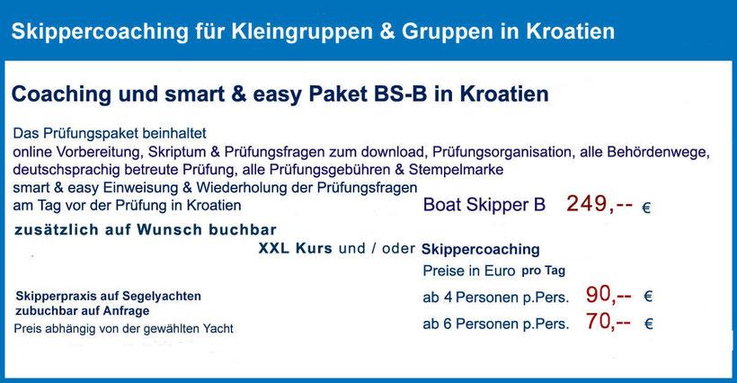 Küstenpatent Prüfung im Hafenamt Split, ganztägiger Kurs, Prüfungsvorbereitung 1 Tag Kurs in Baska Voda, Makarska Riviera - Brela-Tucepi