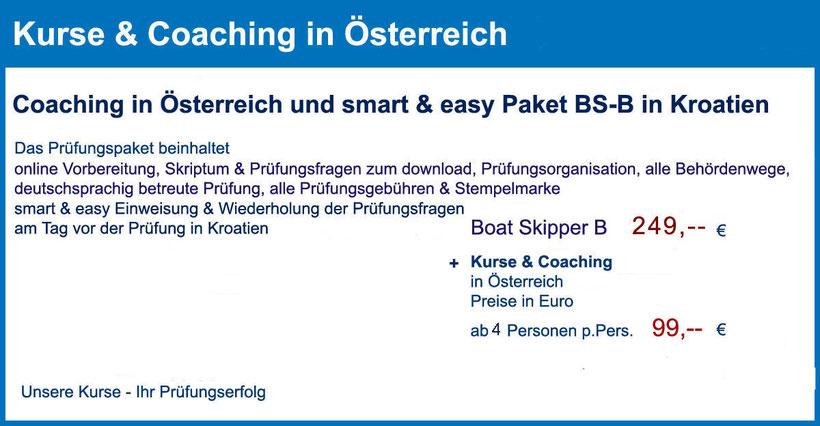 küstenpatent kuestenpatente boat skipper a und b coaching training kurs kroatien österreich wien kärnten oberösterreich steiermark tirol prüfung split rijeka