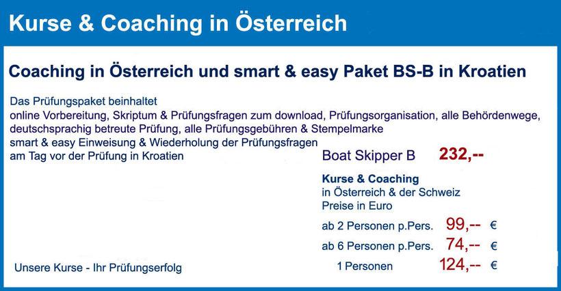 küstenpatent kuestenpatente boat skipper a und b coaching training kurs kroatien österreich schweiz prüfung rijeka