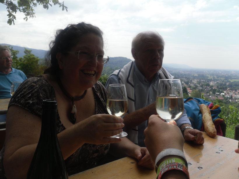 Weinprobe in der Natur