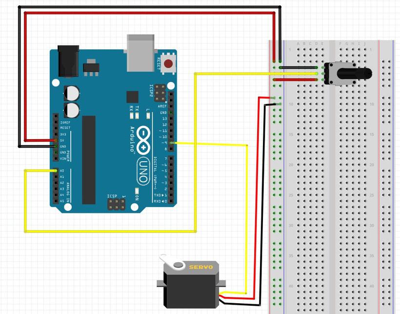 arduino tutorial der servo werde zum maker mit mymakerstuff. Black Bedroom Furniture Sets. Home Design Ideas