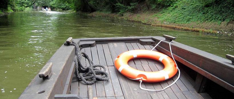 Kanalfahrt mit der Schute Luise