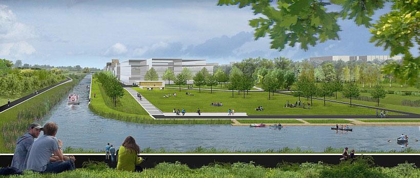 Vision Wasser-Stadt Leipzig - Ansicht Lindauer Hafen