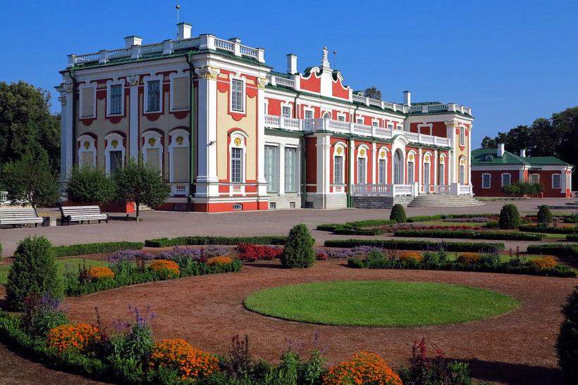 Barockschloss Katharinental (Kadriorg) von Peter I. , Sommerresidenz für seine Frau. Bauzeit: 1718 - 1738