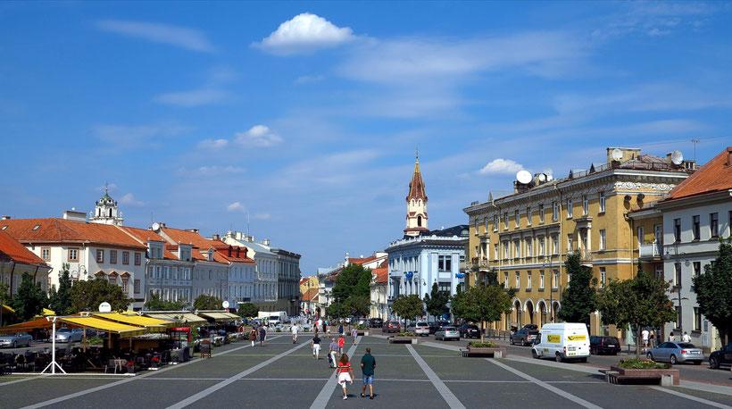 Der aufwendig restaurierte Rathausplatz