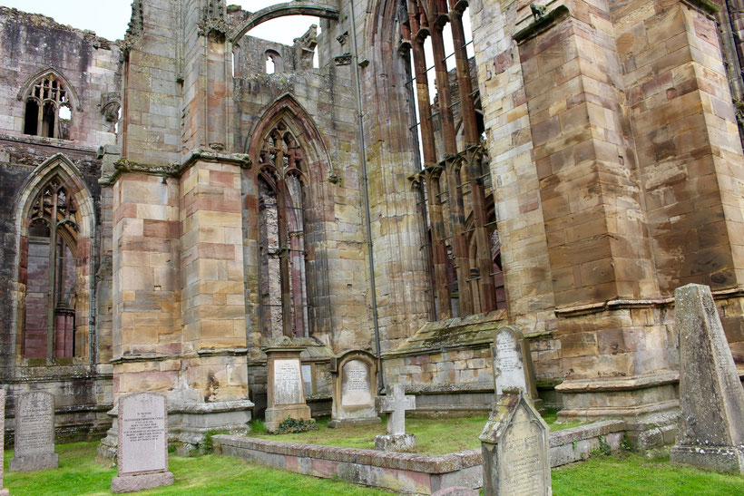 Friedhof an der Melrose Abbey