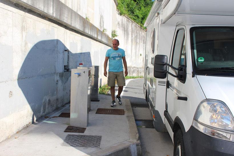 Guter Service für WoMos an italienischen Park- und Rastplätzen