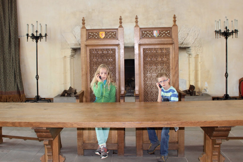 Spannend! Mit Audio-Guides in der Great Hall, Stirling Castle