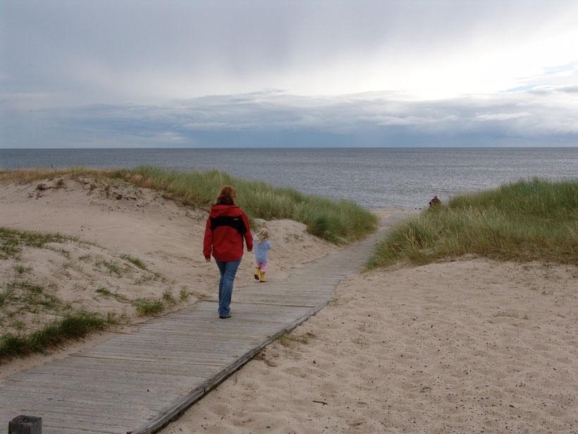 Kurz nach Ahus beginnt ein 30km langer Strandabschnitt