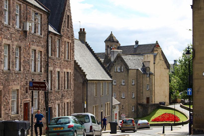 Mittelalterliches Stadtbild in Stirling