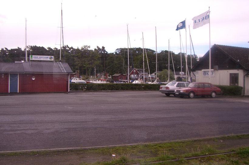 Der Stellplatz am Yachthafen