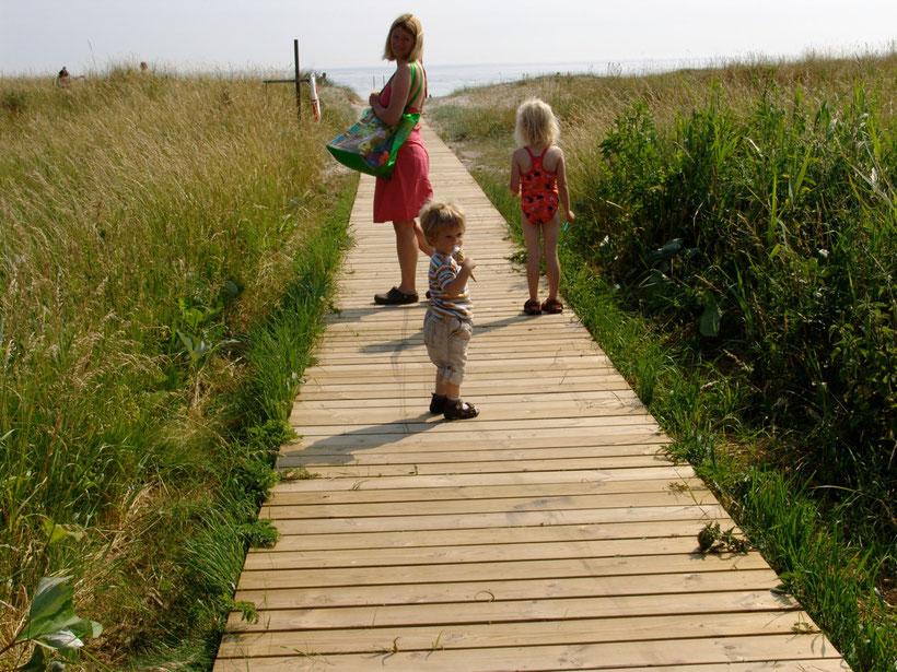 Wir erreichen nachmittags unseren Stamm-Schweden-Abschieds-Campingplatz