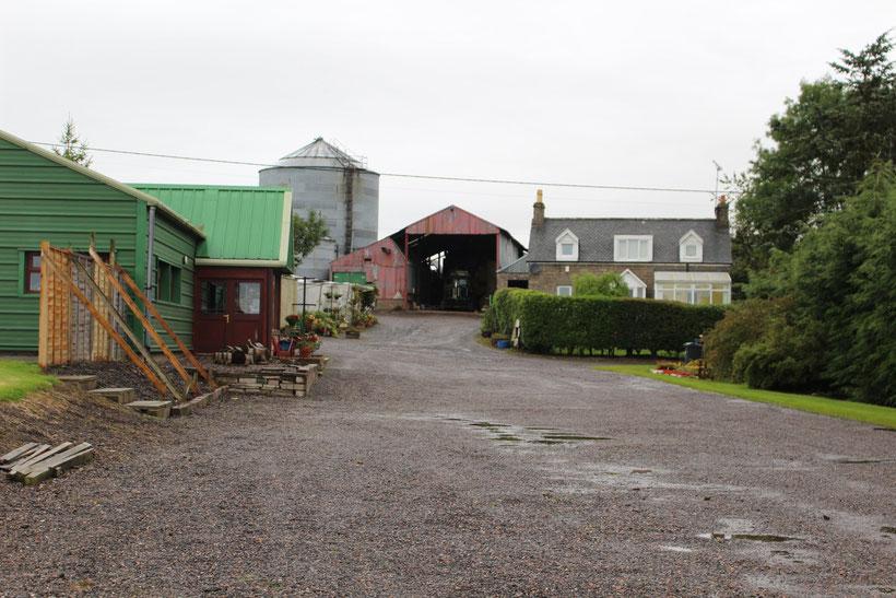 "Coffee shop and farm shop ""The Speckled Hen, Tealing (Angus). Brit Stops 2015"