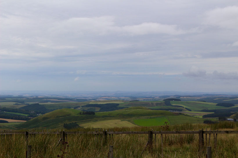 Ein letzter Blick zurück in die schottischen Borders, bevor wir englischen Boden betreten