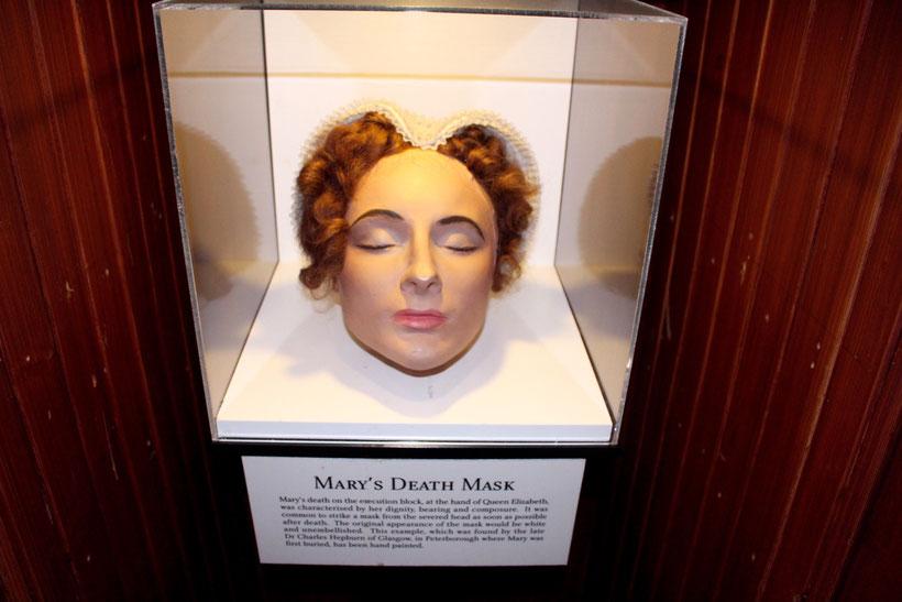 Die Totenmaske von Maria Stuart