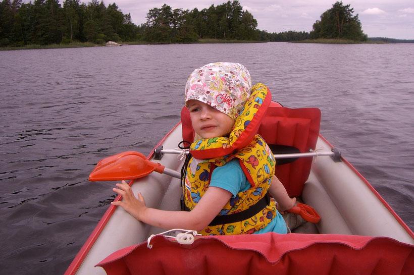 Das Paddeln auf dem Asnensee macht Spass