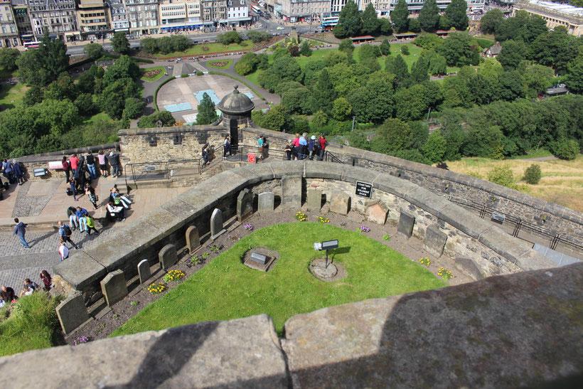 Für den treuesten Freund. Hundefriedhof im Castle Edinburgh. Einen weiteren gibt es im Fort George