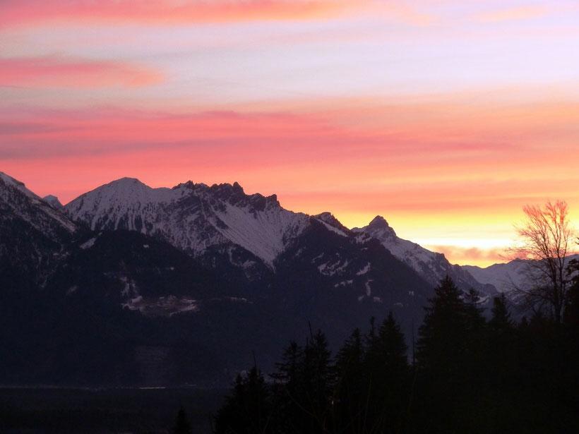 Morgens. Blick aus dem Alkoven