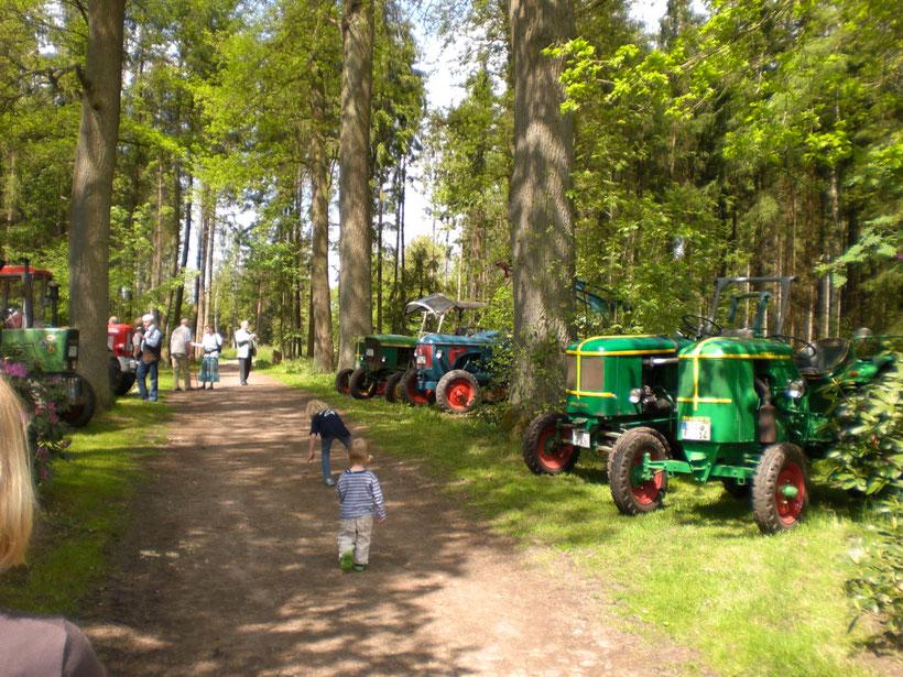 Traktor-Ausstellung auf dem Hoffest