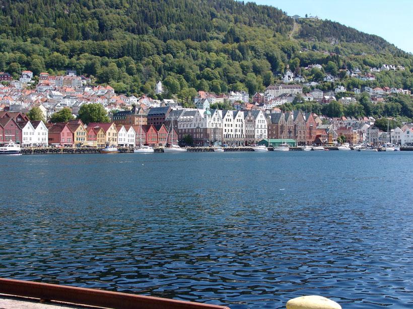Unsere Ankunft in Bergen