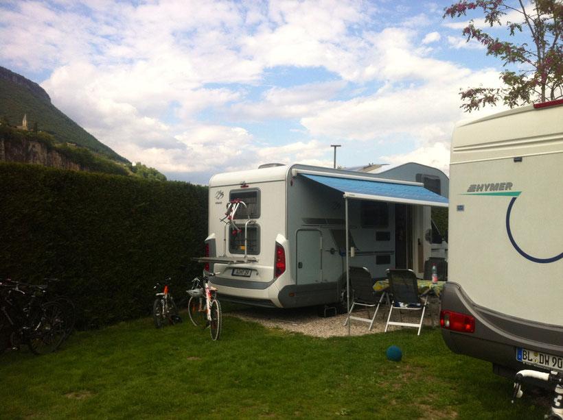 Reiheneckhaus, Stellplatz 24, Camping Obstgarten. Fast wie daheim!