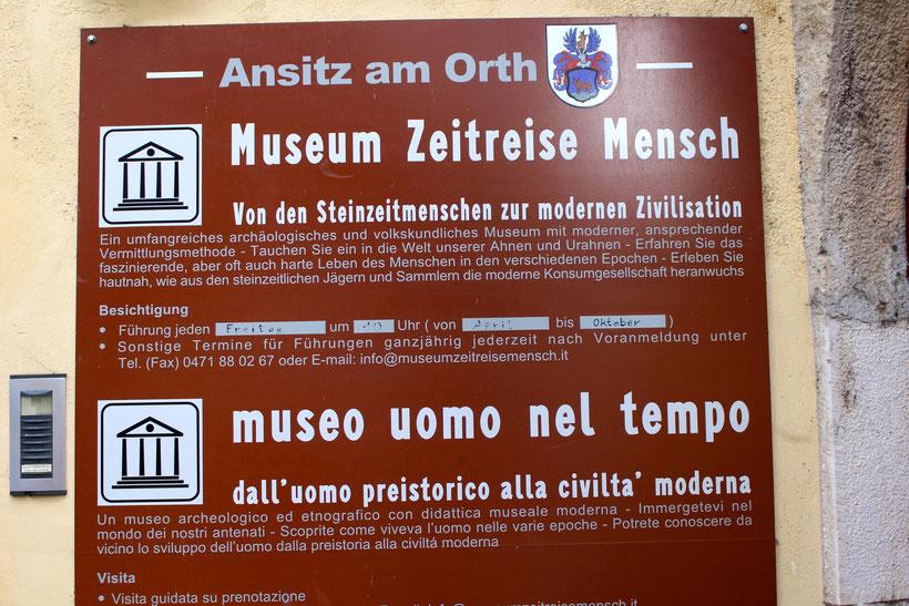 """Museum """"Zeitreise Mensch"""", Kurtatsch"""