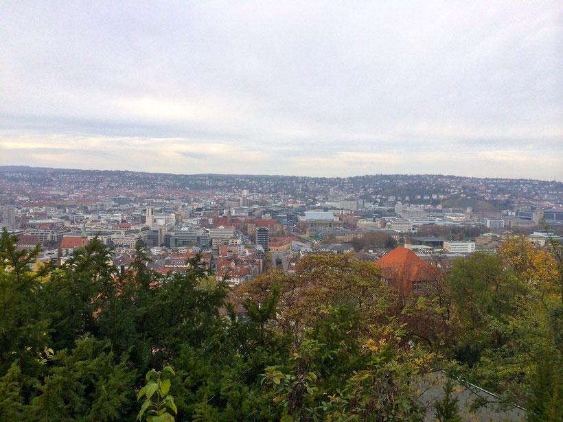 Stuttgart. Blick in den Talkessel