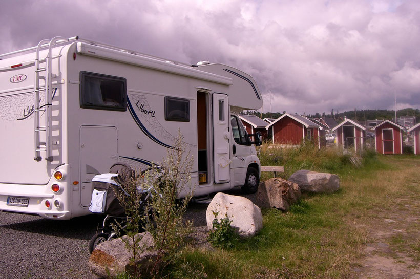 Unser Stellplatz für eine kostenlose Übernachtung in Kivik