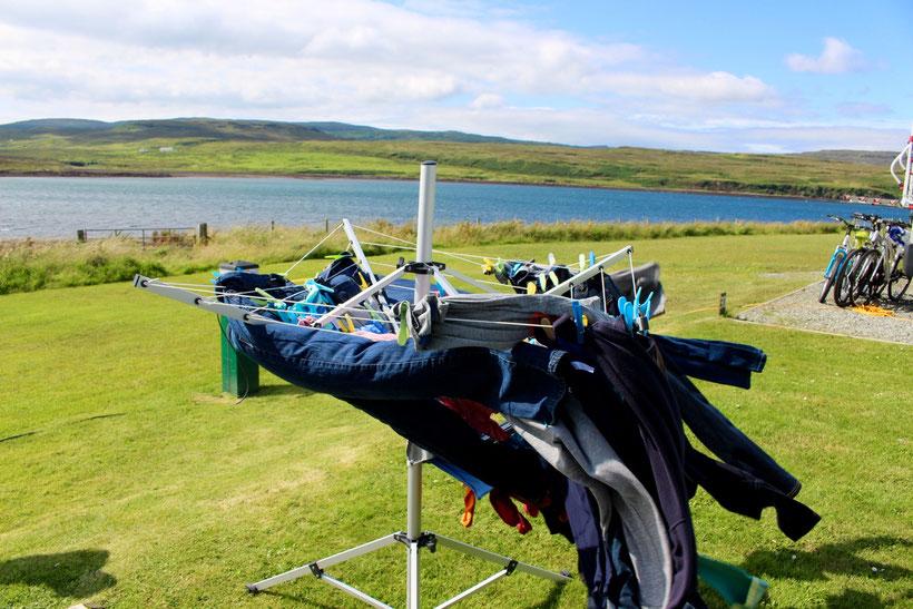 Turboboost. Wäschetrocknen in Schottland