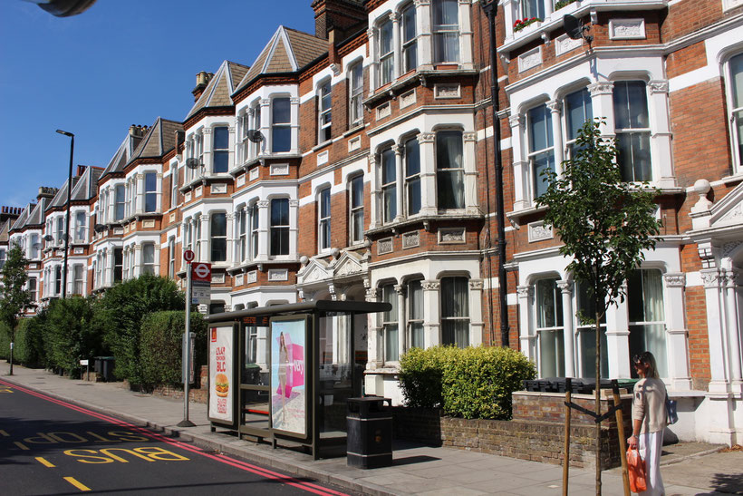 Mit der Villa durch London