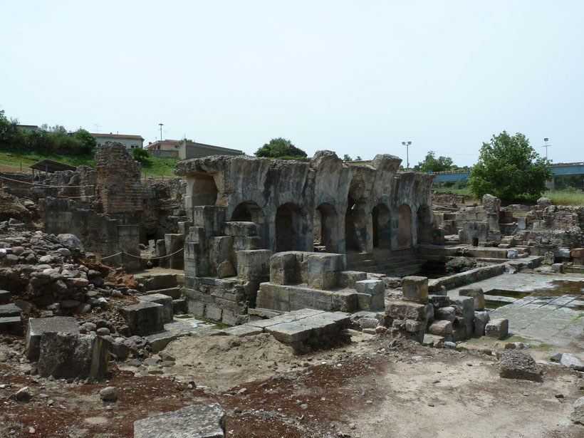 Fordongianus. Überreste des römischen Thermalbades