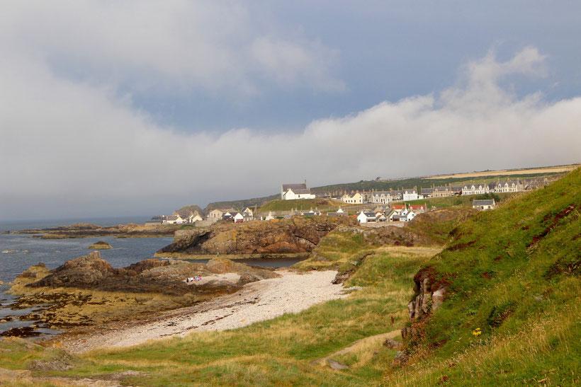Blick auf Findochty vom Coastal Footpath