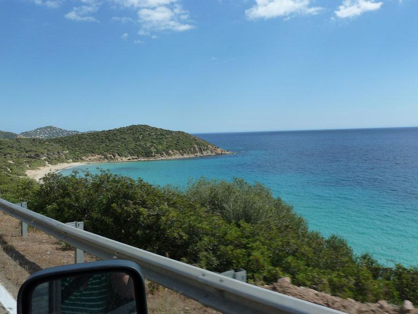 Panoramastraße von der Costa Rei nach Cagliari
