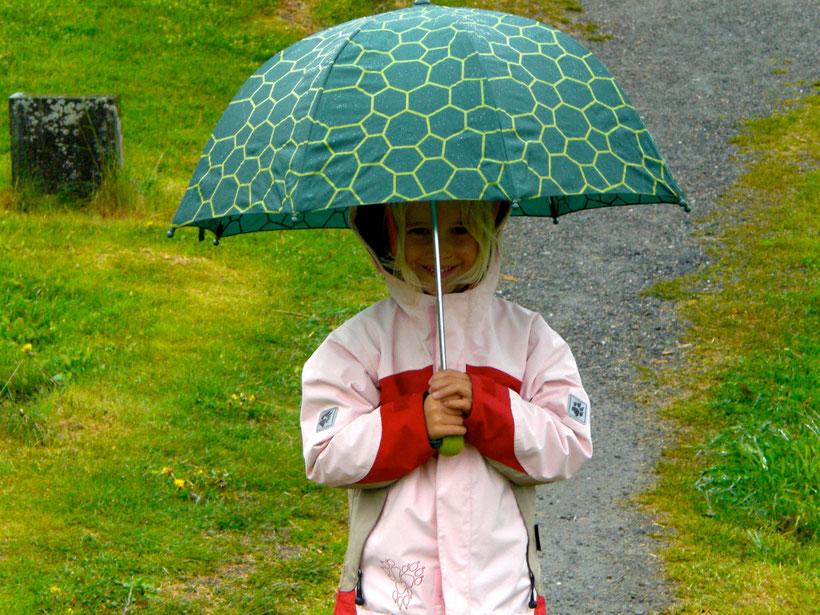 Es regnet in Strömen