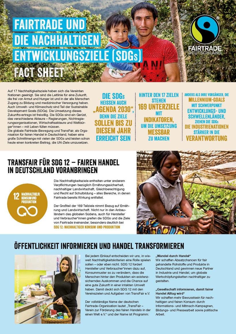 Fairtrade und die Nachhaltigkeitsziele SDG`S - Lokale Agenda 21 REcklinghausen