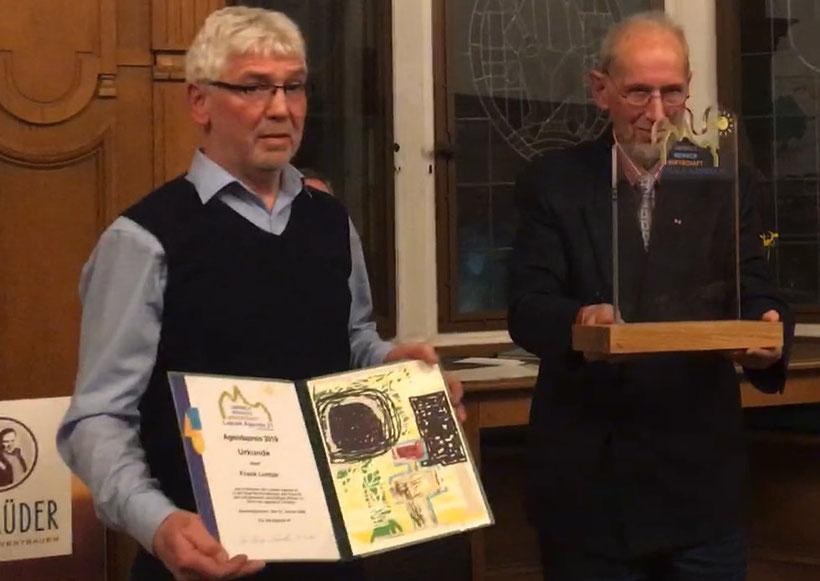 Agenda Preis Verleihung - Frank Lumpe - Lokale Agenda 21 für Recklinghausen