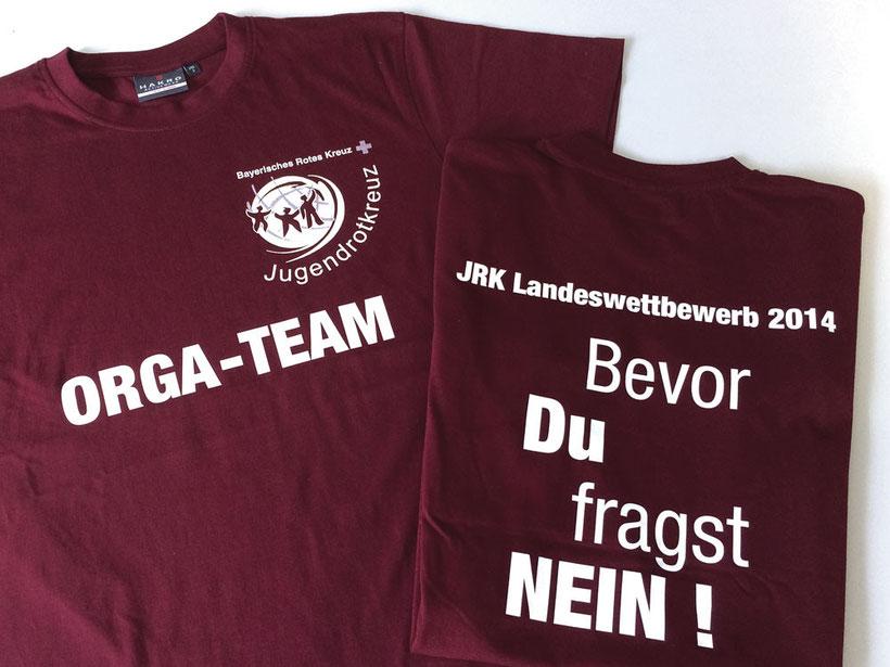 BRK Jugendrotkreuz, T-Shirts Landeswettbewerb 2014