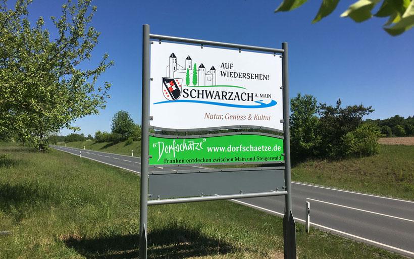 Willkommensschilder, Ortsschilder, Beschilderung, Werbetechnik, Kitzingen, Volkach