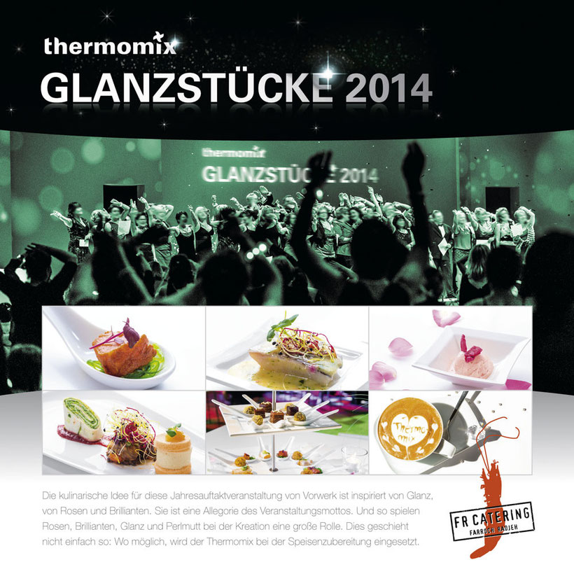 "Layout der Präsentationstafel zum Award ""Event-Catering 2014"""