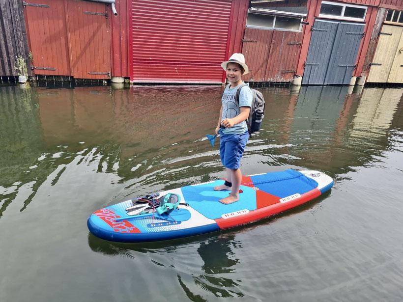 SUP mieten leihen Wesenberg, Kind SUP, Stand up paddling Kind