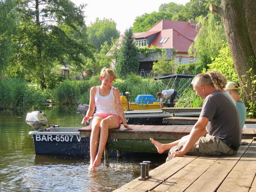 Urlaub MV mit Kindern, Ferienhaus mit Steg am See