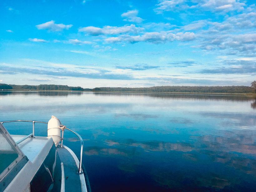 Mecklenburgische Seenplatte, Drewensee, Wesenberg, Boot fahren See