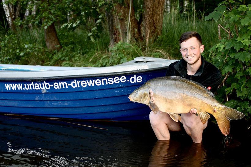 Karpfen angeln Drewensee Mecklenburg