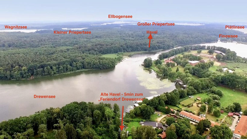 Mecklenburgische Kleinseenplatte, Plätlinsee, Priepertsee, Wagnitzsee, Ellbogensee, Havel