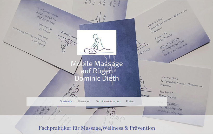 Dominic Dieth, Mobiler Fachpraktiker für Massage, Wellness & Prävention vor Ort in Dranske